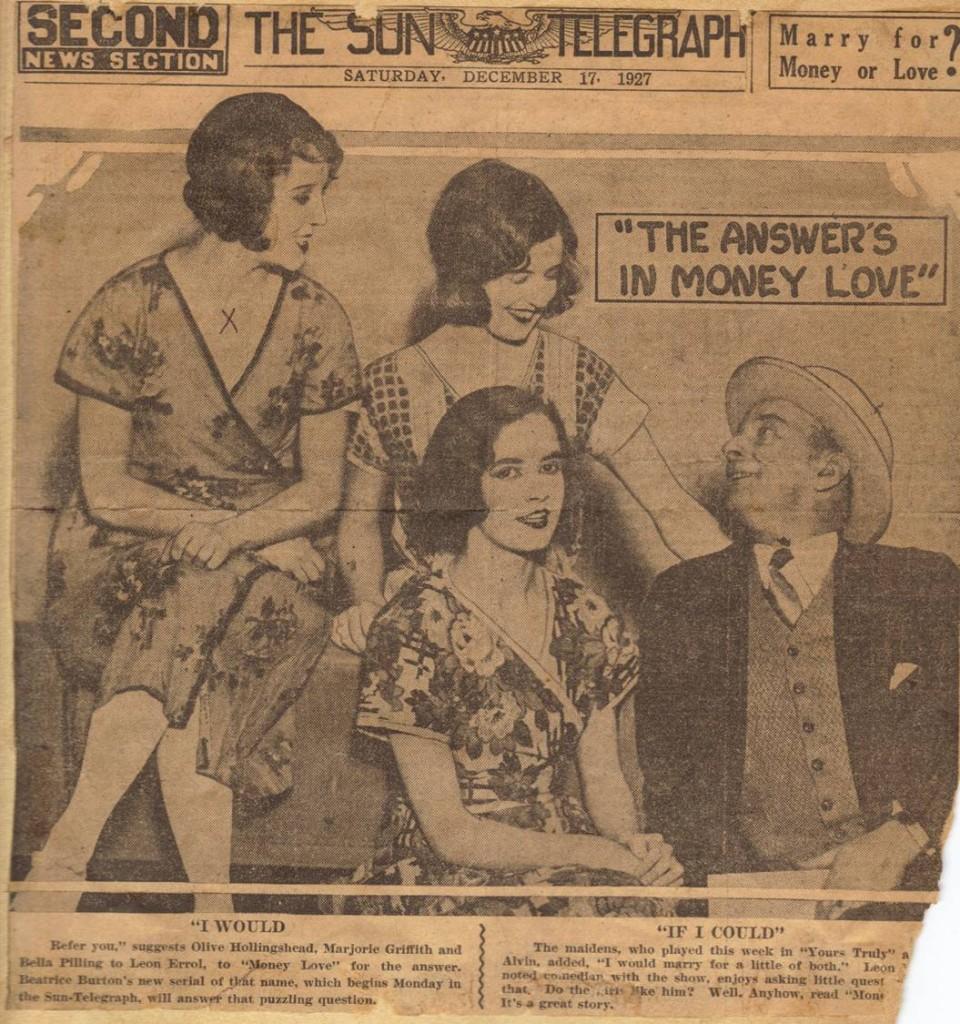 1927 New York Sun