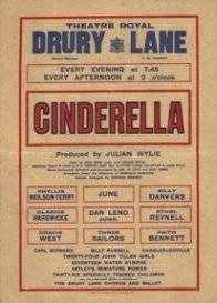 Cinderella Drury Lane 1934 Flyer