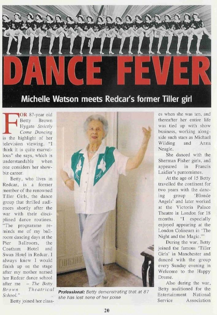 Redcar Tiller Girl page 1